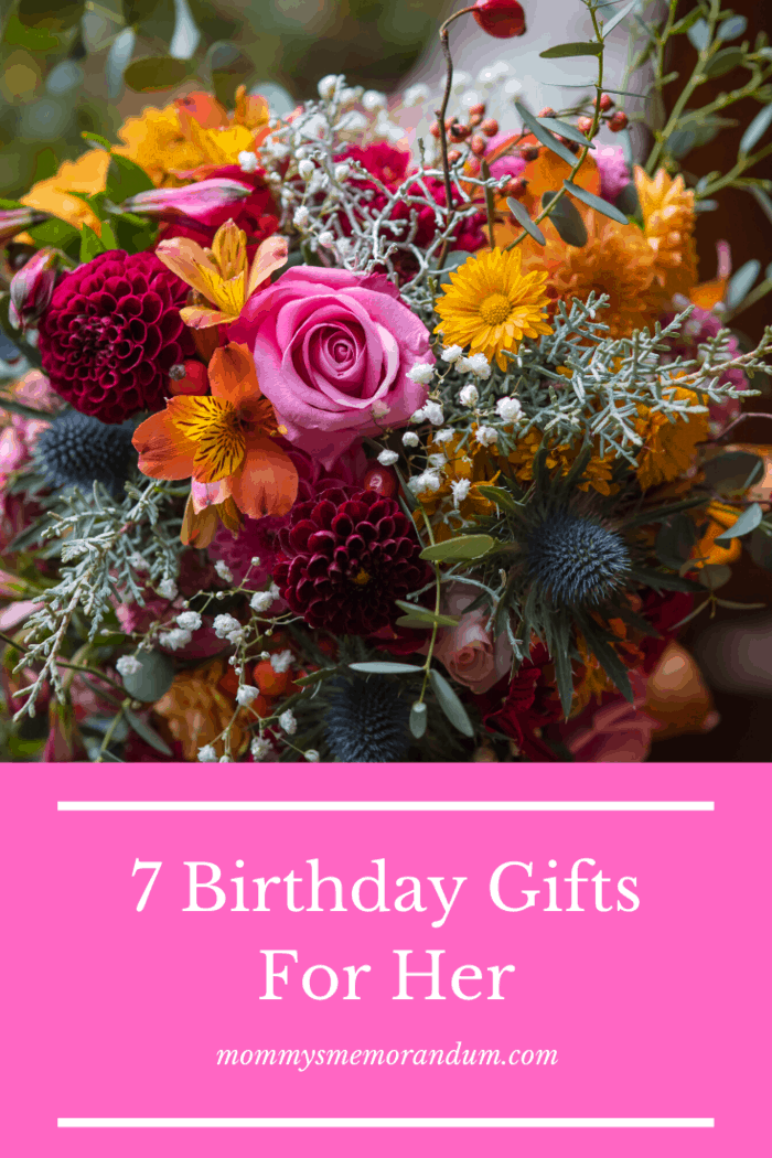Birthday Gifts for Her: You will have to find out what her favorite kind of flower is or you can also gift her a very unique and different kind of flower.