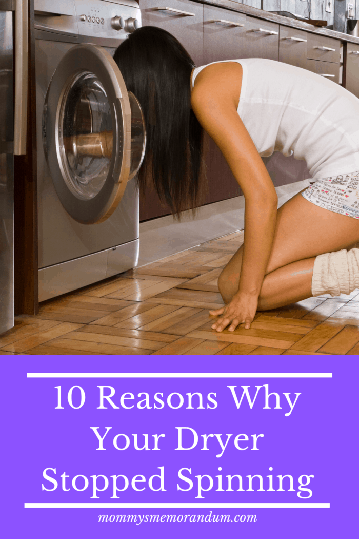 If the dryer stops functioning, one reason may be a faulty thermal fuse.