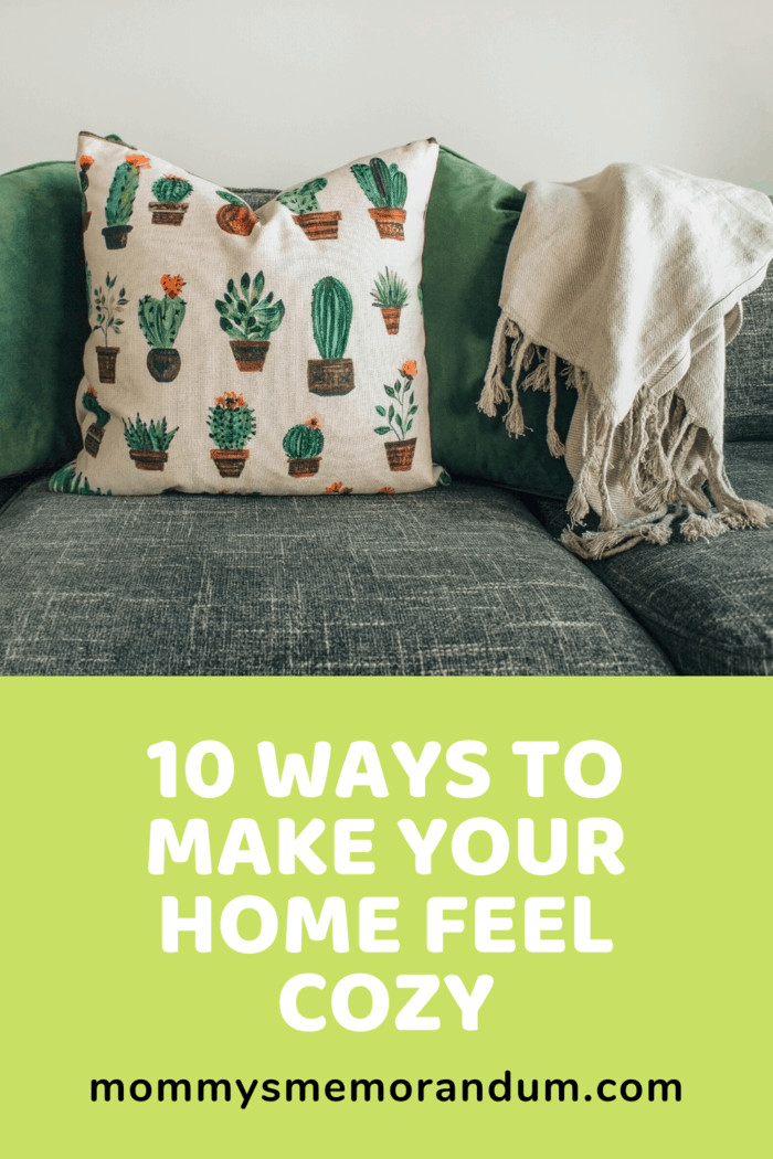 Get throw blankets that match the theme of your rooms and use them abundantly.