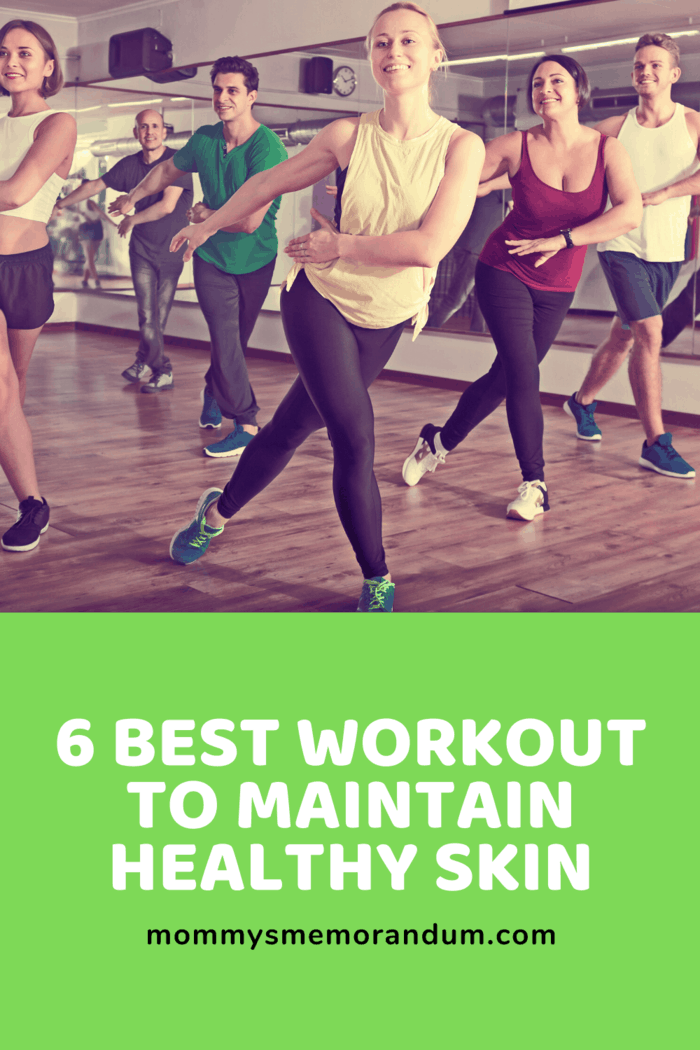 zumba is one of the best workout to maintain healthy skin
