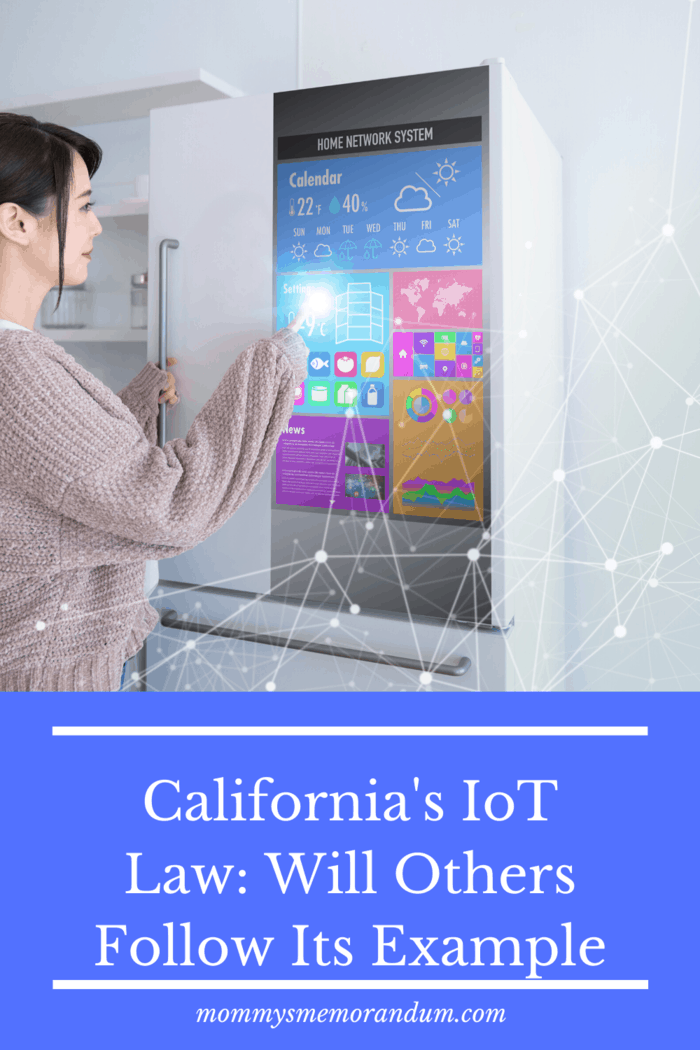 As of the turn of the decade, California declared a law that states that these devices must come with a reasonable standard of security that protects user's data from being misused or inappropriately access by those this malicious intent.