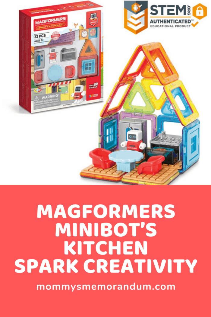The Magformers – Minibot's Kitchen does all this at home and on the go.