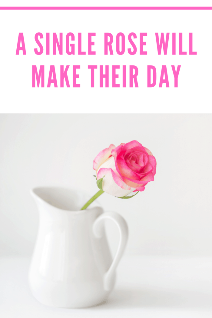 While giving a bouquet of roses to each teacher might be expensive and a bit much for a Valentine's day gift from a student, a single rose is a nice loving gesture.