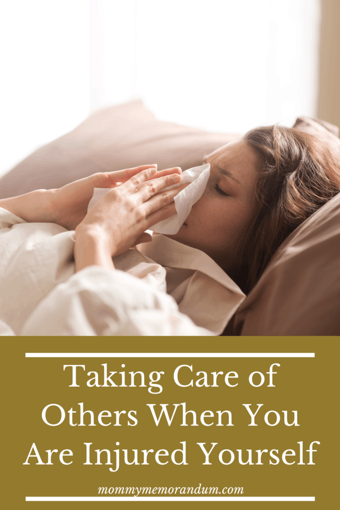 When taking care of others is your job, you have to rethink things during your recovery. Here are 9 tips for caring for others when you are injured.