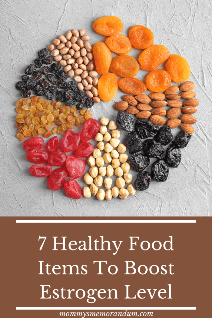 Dried fruits contain a high amount of nutrients as compared to fresh fruits making it a preferred option to uplifting the estrogen hormones in a female body.