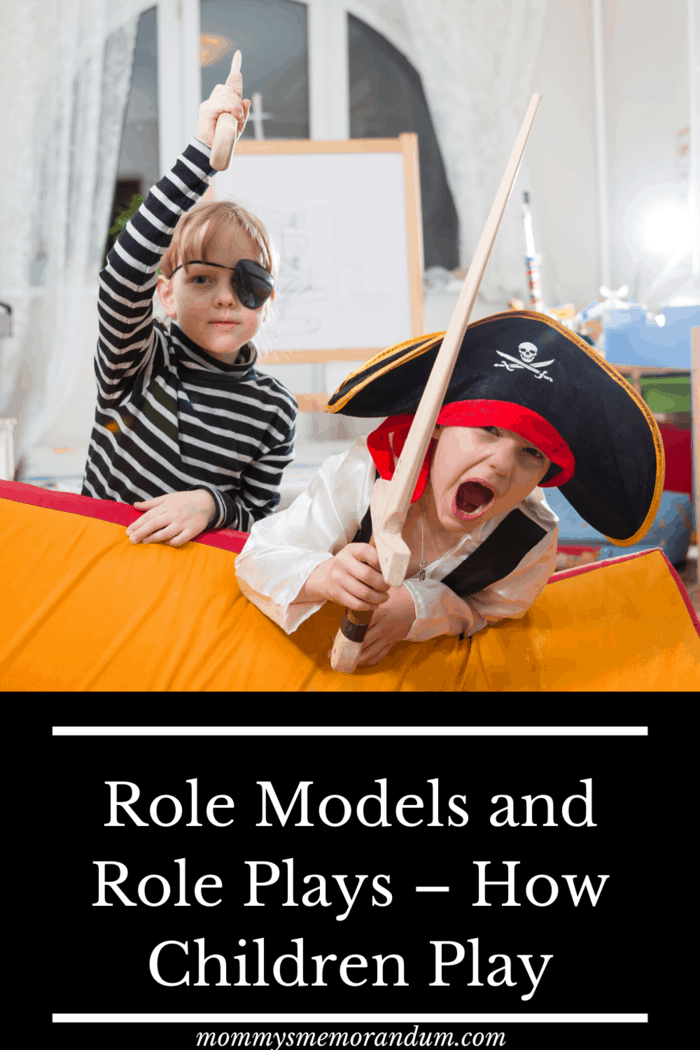 Children begin to playfully imitate their environment at about the age of 4 and imitate the behaviors they learn.