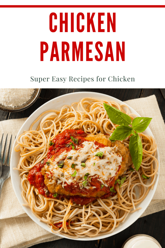 The easy chicken parmesan is not only a simple chicken recipe, but it's also great tasting too.