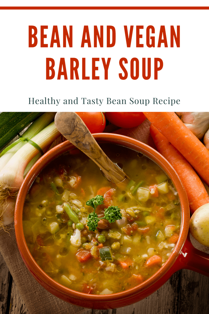 This barley and bean soup is a natural cholesterol-free meal and will not clog any of your arteries like barley and beef soup.