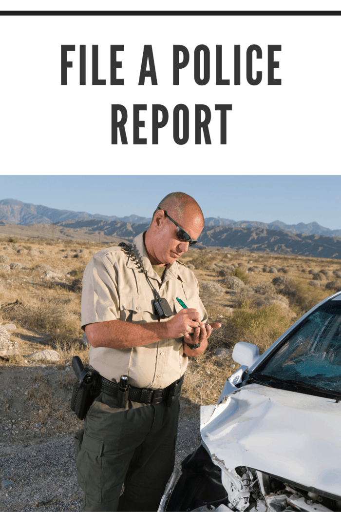 Even if you're familiar with your own state's laws, it's likely that you'll be in another during a family road trip, so it cannot be overstated how important it is to file a report with the police.