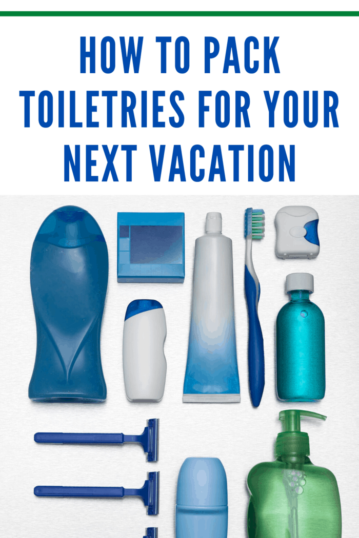 If you're carrying on your toiletries, you should keep your items in an easily accessible, clear bag.