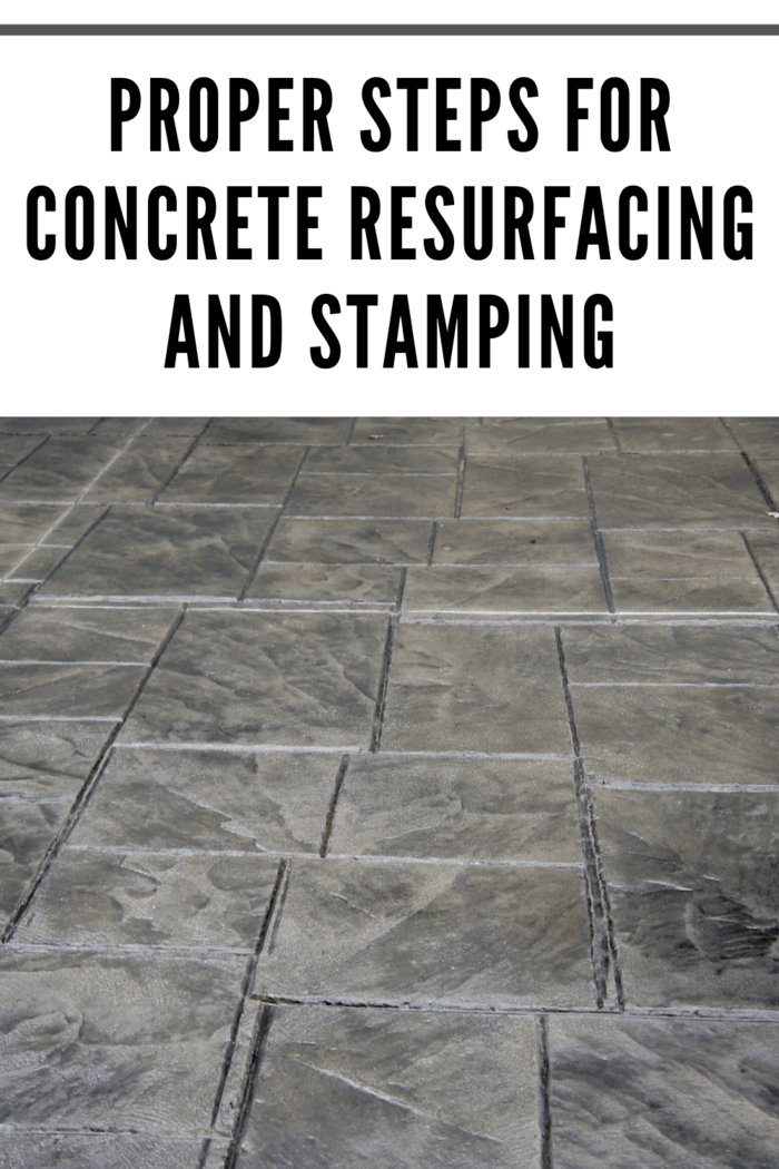 Stamped concrete overlay is a type of concrete finish that is suitable for outdoor spaces such as concrete driveways, patios, or pool decks.