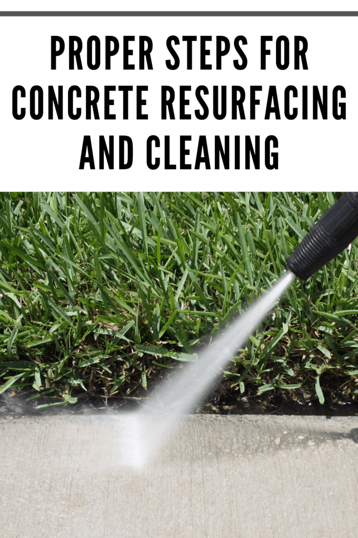 Cleaning the old slab is not a laborious process; most contractors make use of pressure washer to clean the area thoroughly.