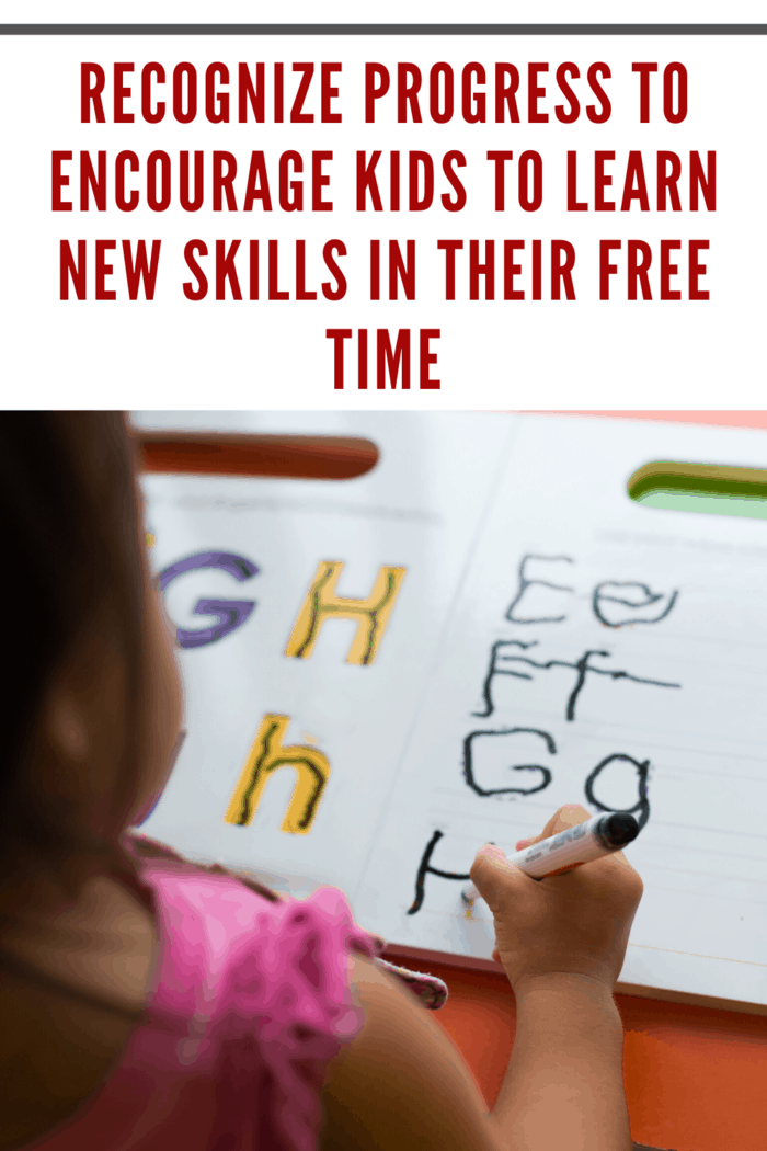 Find a way to show your child that they're moving in the right direction with their efforts, and they'll find it a lot easier to commit themselves to the process.