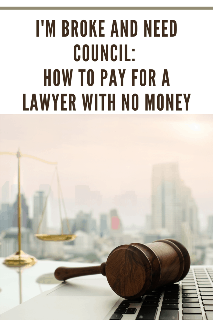 how to pay for a lawyer with no money