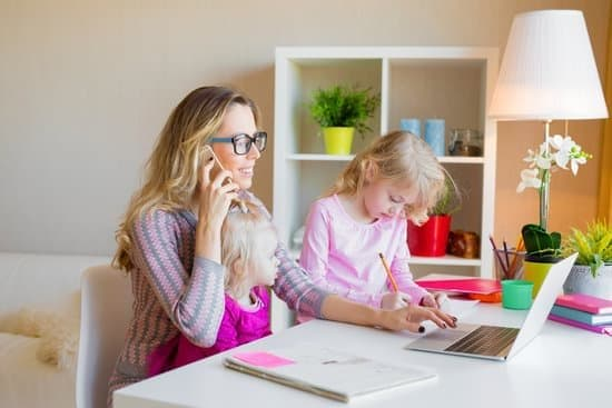 mom working from home balancing parenting and work