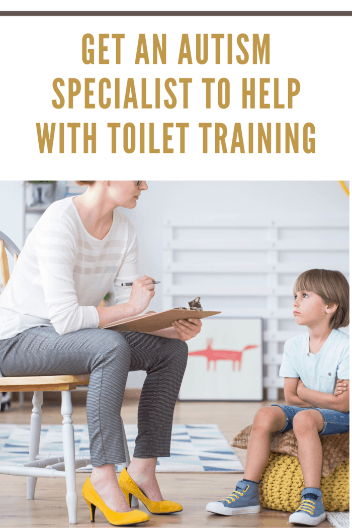 toilet training for children with autism child speaking to therapist