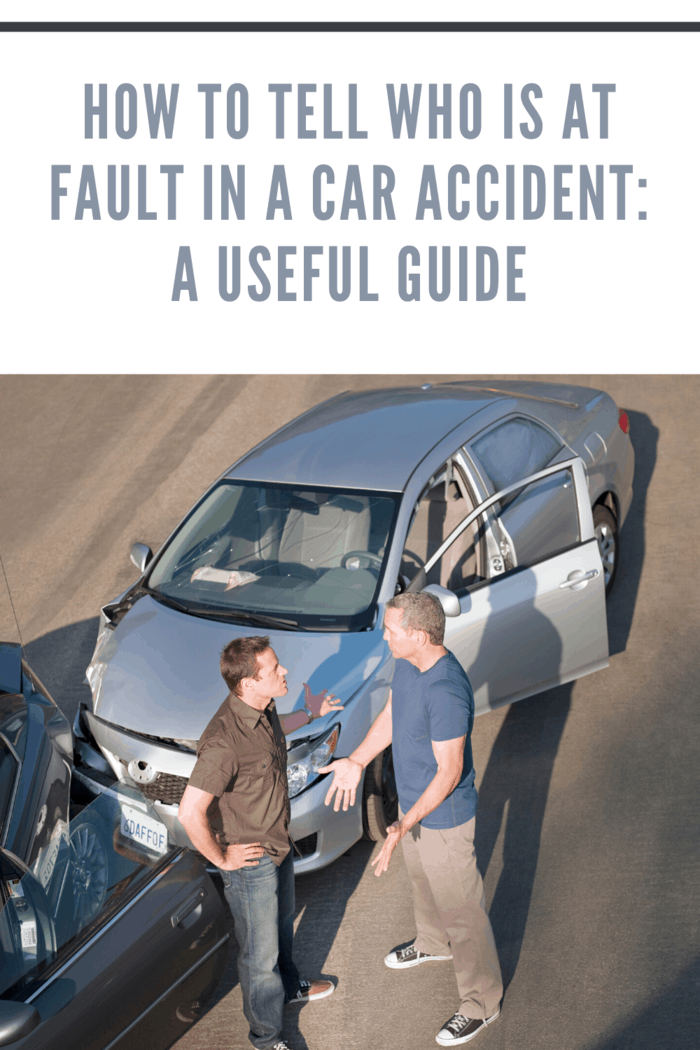 men arguing whose at fault in car accident