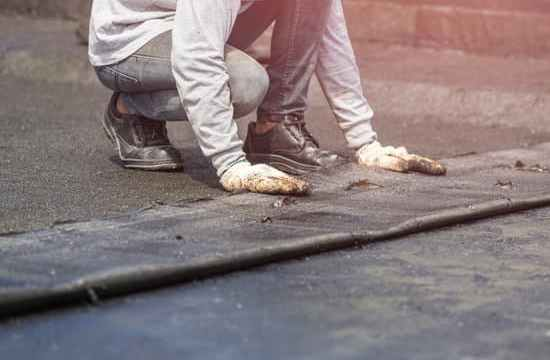 waterproofing concrete with polymer-modified bitumen