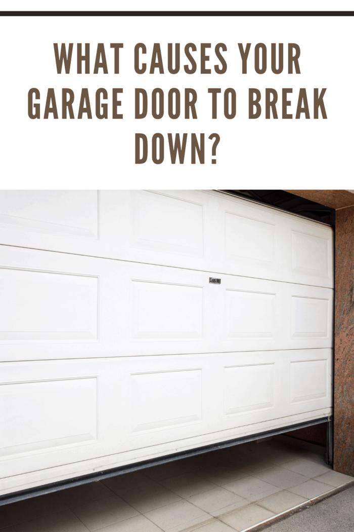 garage door partially opened