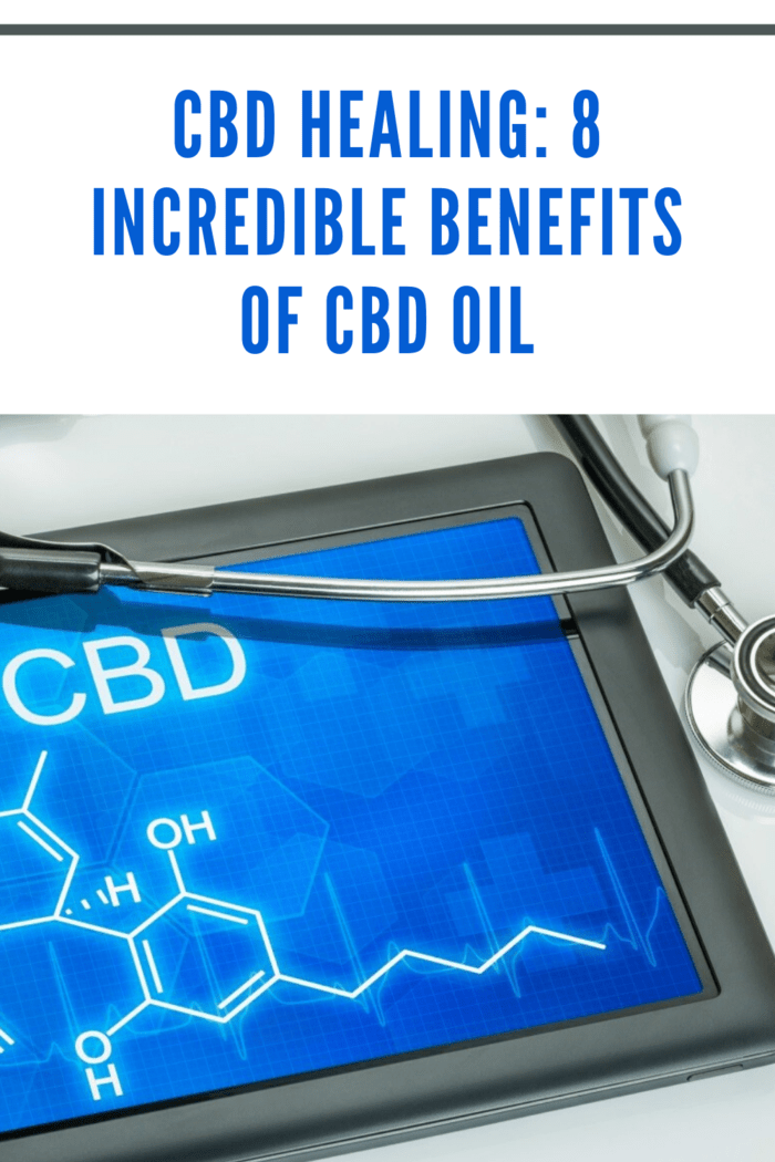 tablet with CBD scientific makeup on screen with doctor's stethoscope resting on tablet
