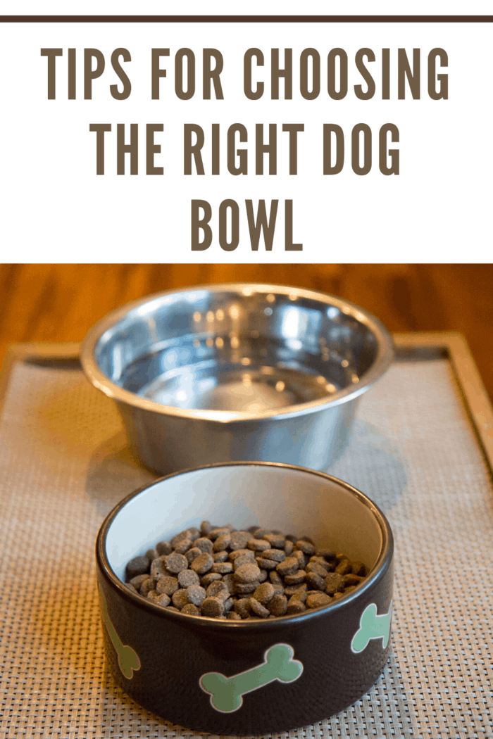 Choosing a bowl with a non-stick base can help to reduce slippage but selecting a ceramic or metal dish can be an effective way to prevent your dog from sending their bowl flying every time you feed them.