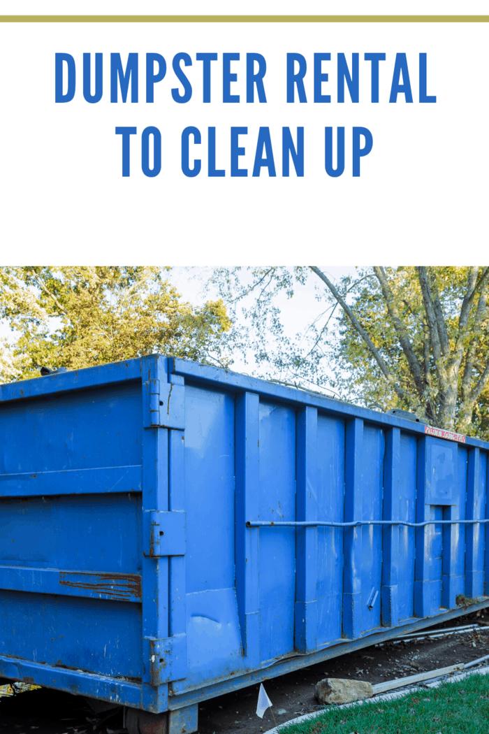 blue dumpster rental