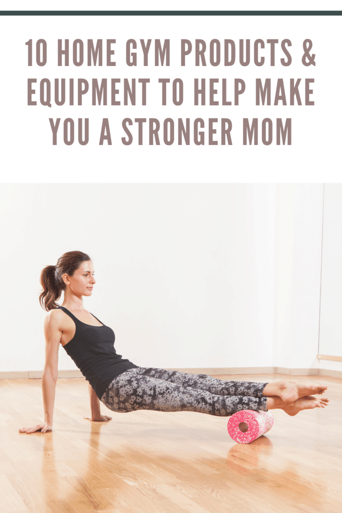 mom working out with foam roller