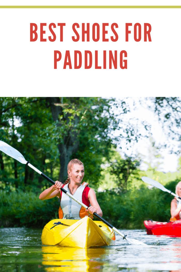 woman in yellow kayaking