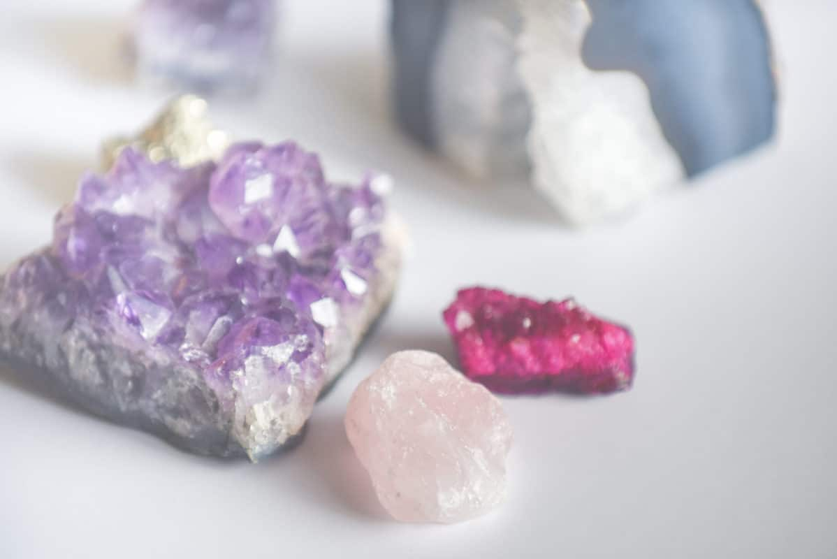 Gemstones A collection of various gems and rock and mineral objects