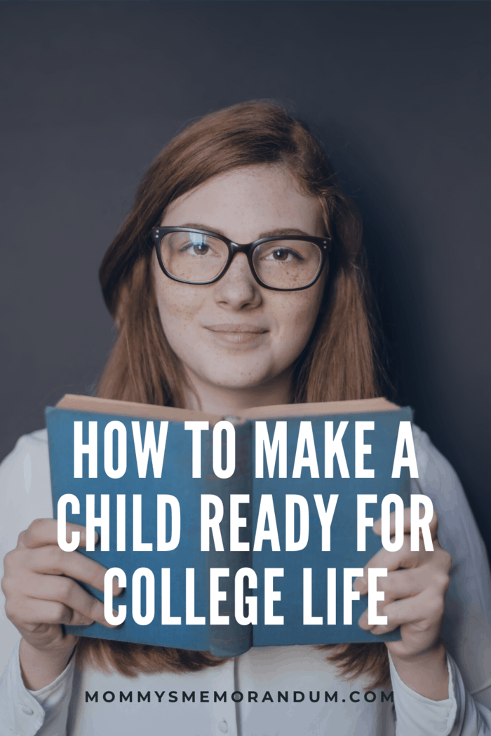 girl with glasses holding book ready for college
