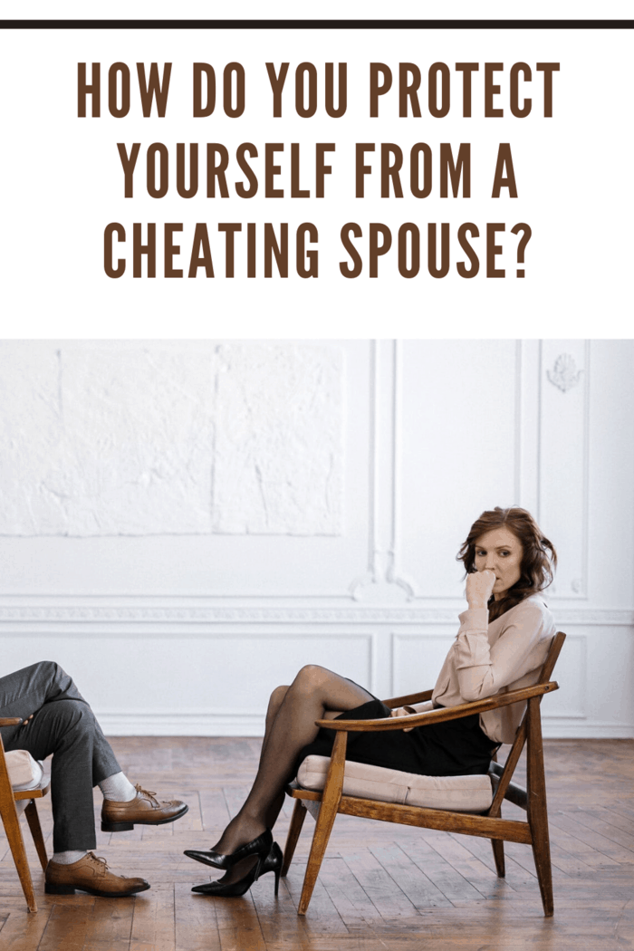 woman looking away from her cheating spouse