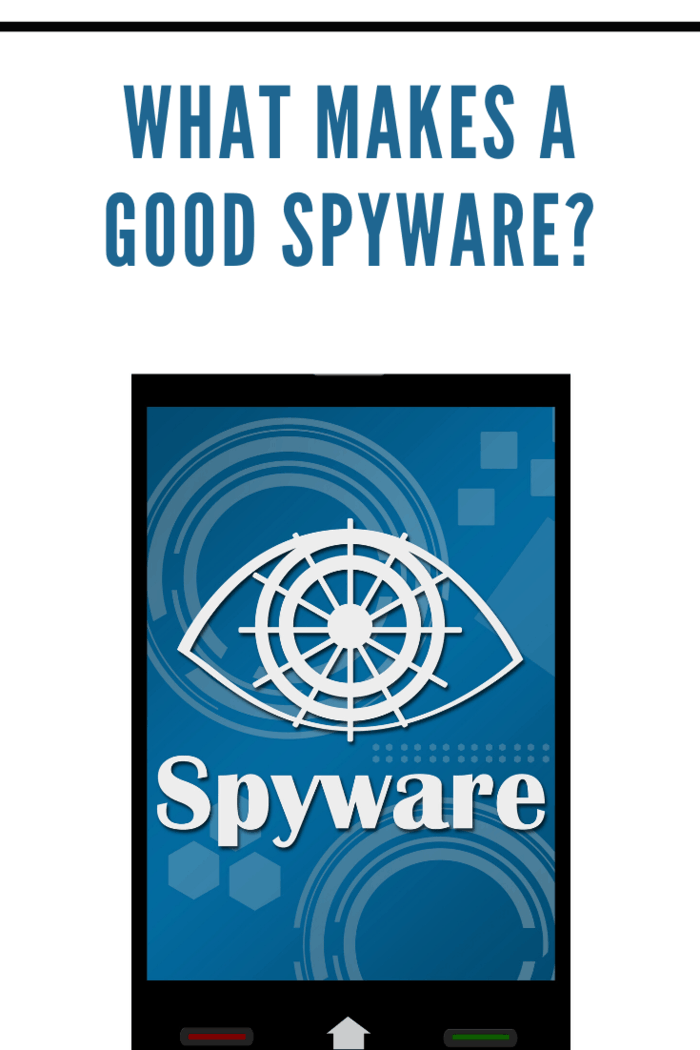 Spyware concept image with dirty messy blot with spyware text on a smartphone.