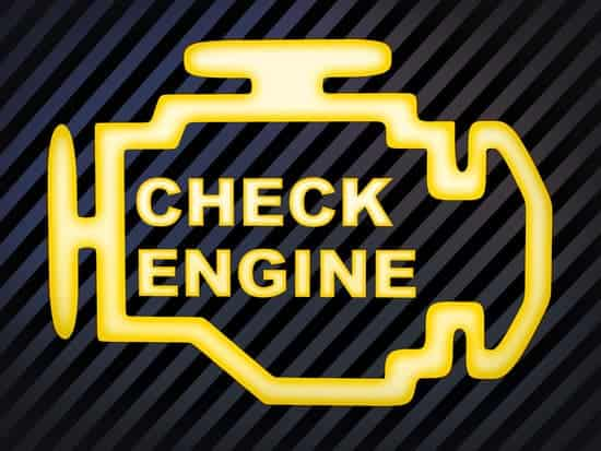 "Sign car ""Check engine"" (computer generation image)"