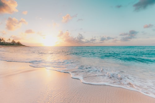 hawaii beach at sunrise