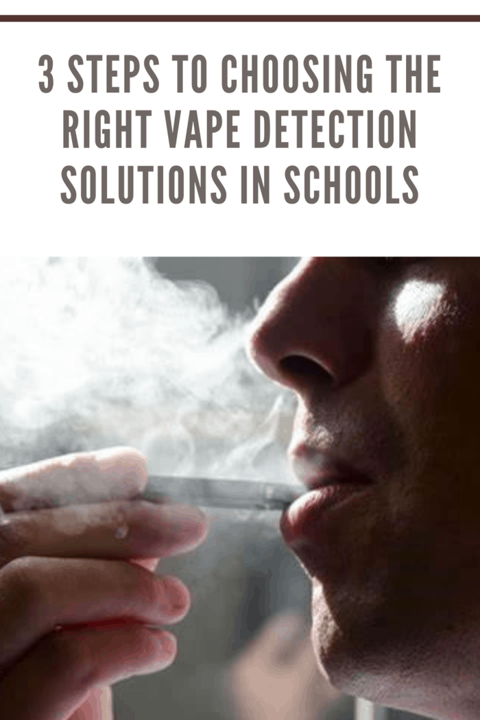 boy vaping at school who will be caught thanks to vaping detector solutions