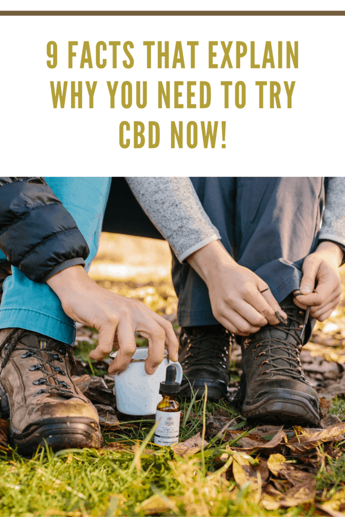 Person Fixing It's Shoelace Near Cups and CBD Bottles