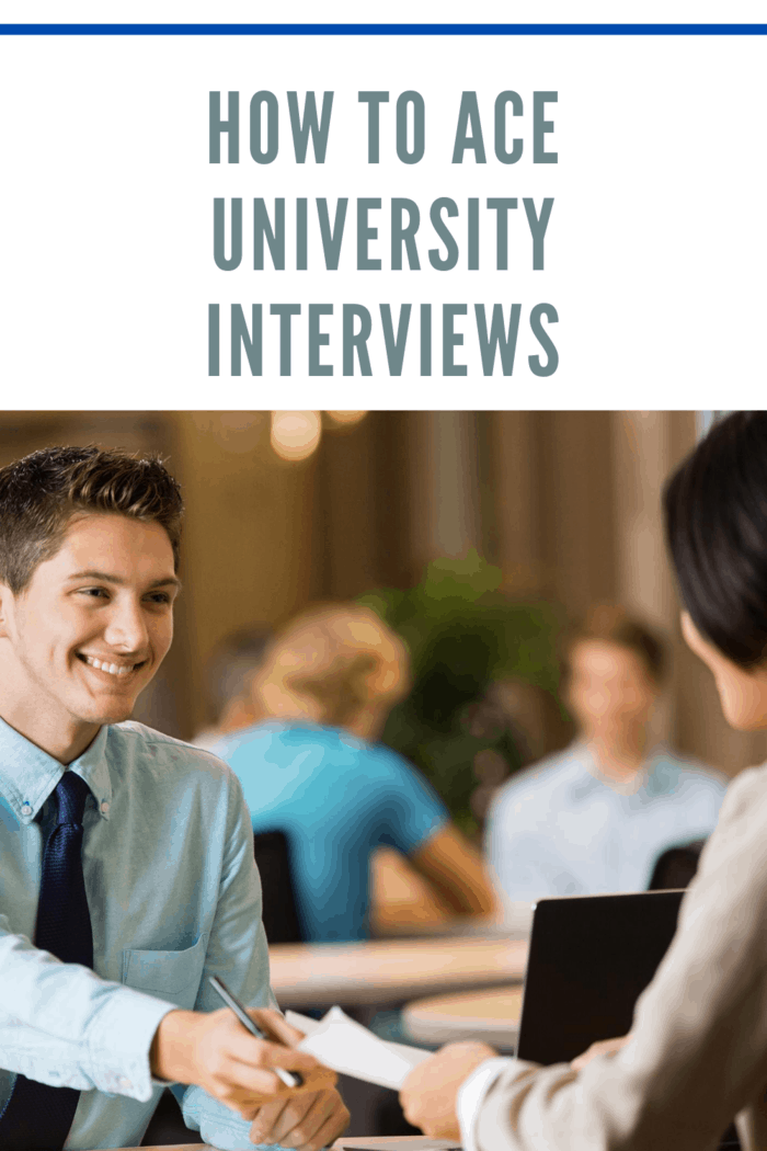 student who is ready to ace university interviews