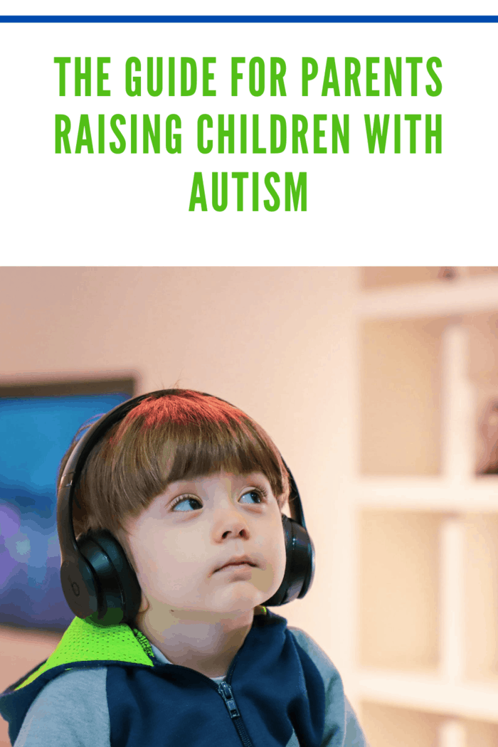 boy with autism using noise canceling headphones as part of parental advice for raising children withe autism