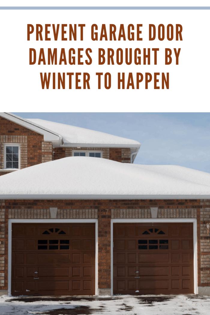 garage doors in winter