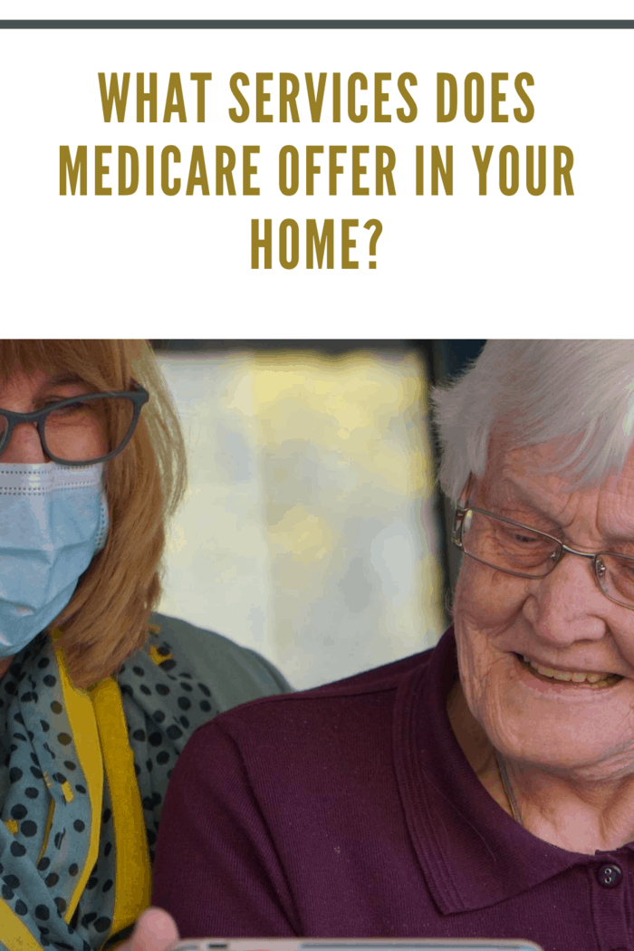 elderly woman receiving medicare services at home