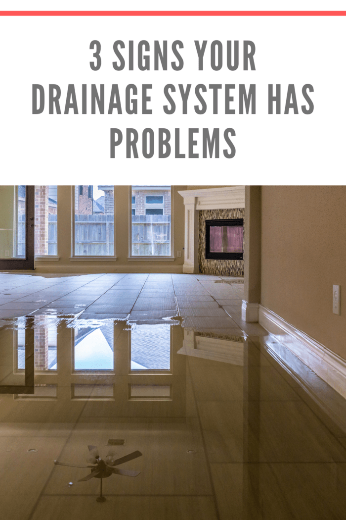 drainage system has problems leading to flooding in hallway