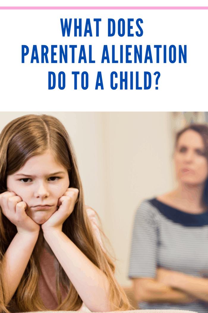 child suffering from parental alienation