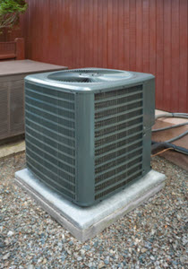 Heat pump and ac unit used to cool or heat a house