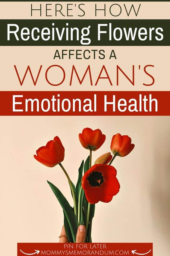 roses in vase representing how receiving flowers affects a woman's emotional health