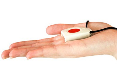 medical alert system in palm of hand
