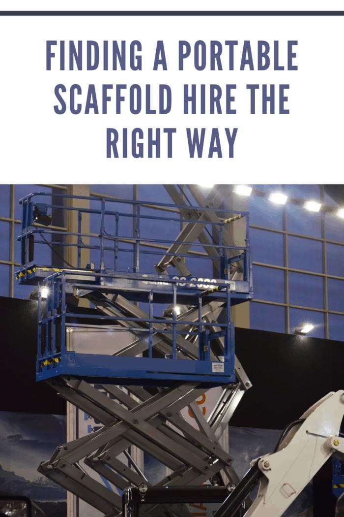 pump-jack portable scaffolding system