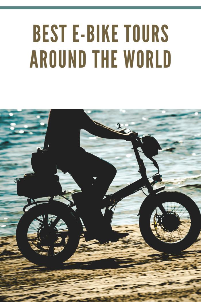 electric bike on sea beach