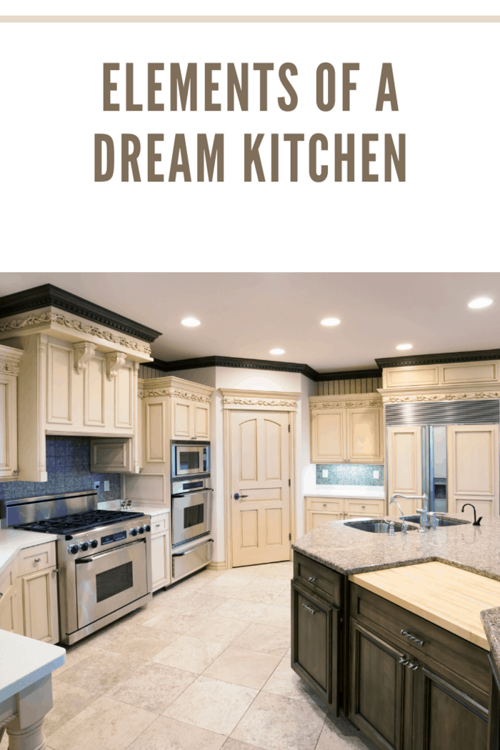 """Dream Kitchen With Granite Island, Ornate Carved Woodwork"""