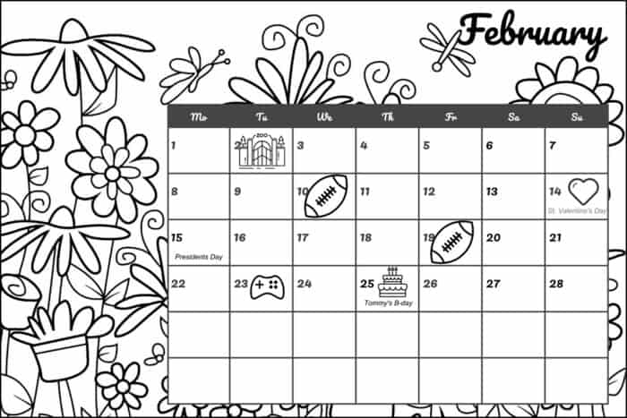 How to Make Your Own Printable Coloring Calendar • Mommy's