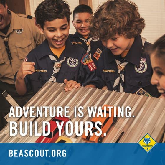 #buildanadventure boy scouts